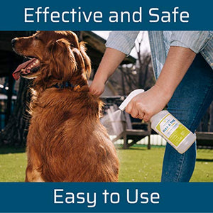 Wondercide Natural Products - Flea, Tick and Mosquito Control Spray for Dogs, Cats, and Home - Flea and Tick Killer, Prevention, Treatment - Eco-Friendly and Family Safe – 32 oz Lemongrass