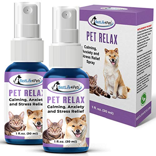 BestLife4Pets Pet Relax Calming Anxiety Relief for Dogs and Cats