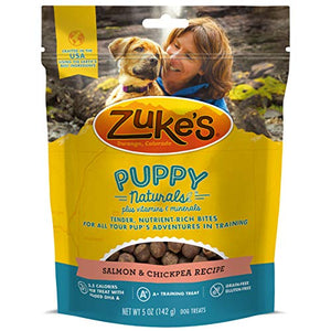 Zuke's Puppy Naturals Puppy Treats Salmon and Chickpea Recipe