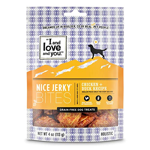 I And Love And You Nice Jerky Bites Chicken + Duck Dog Treats