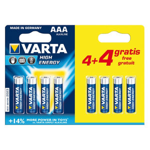 Alkaline Battery Varta CD4BKKD13-P AAA 1,5V High Energy (8 pcs)