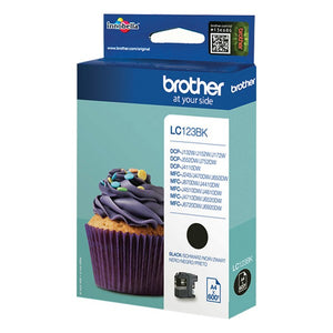 Original Ink Cartridge Brother LC-123BK Toner Black (Refurbished A+)