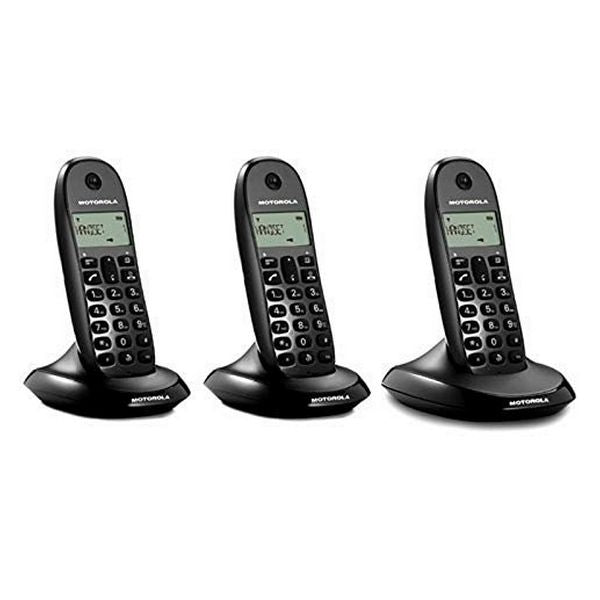 Wireless Phone Motorola E07000D48B3AES03 (3 Pcs) Black