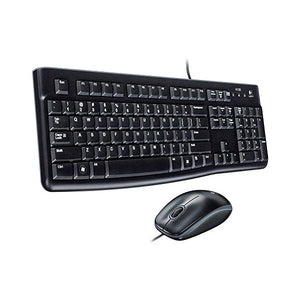 Keyboard and Optical Mouse Logitech 920-002550 1000 dpi USB Black