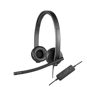 Headphone with Microphone Logitech STEREO H570e Black