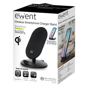 Qi Wireless Charger for Smartphones Ewent EW1192 5V-9V Black