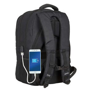 Rucksack for Laptop and Tablet with USB Output Safta Business (30 x 43 x 16 cm)