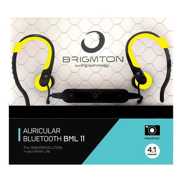 Bluetooth Sports Headset with Microphone BRIGMTON BML-11 Yellow