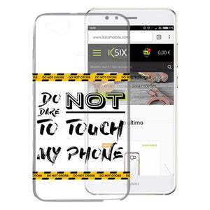 Mobile cover Huawei P10 Lite Flex TPU Do not touch my phone