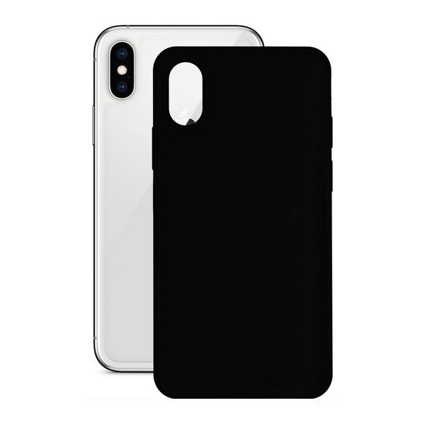 Mobile cover Iphone X/xs KSIX Black Silicone