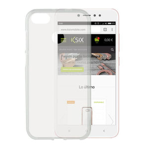 Mobile cover Xiaomi Note 5a KSIX Flex TPU Transparent
