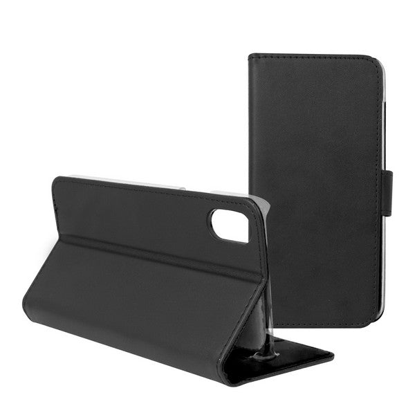 Mobile Cover Case Iphone X Contact Slim Black Textile Polycarbonate