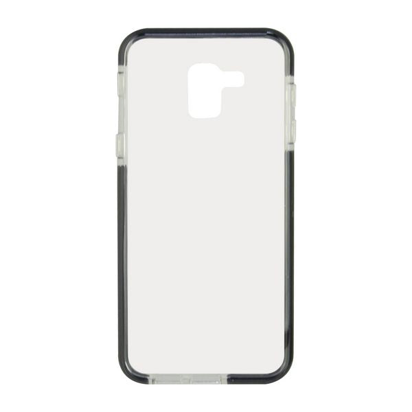 Mobile cover Samsung Galaxy J6 2018 Flex Armor TPU Polycarbonate Black Transparent
