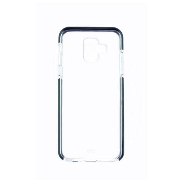 Mobile cover Samsung Galaxy A6 2018 Flex Armor TPU Polycarbonate Black Transparent