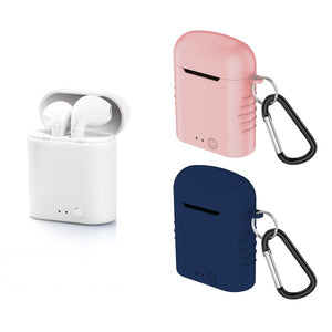 Bluetooth Headset with Microphone Contact Twins Mini 400 mAh White