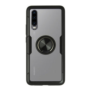 Housing with ring Huawei P30 KSIX 360 Ring Black