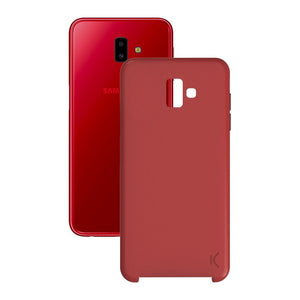 Mobile cover Samsung Galaxy J6+ 2018 Soft Red
