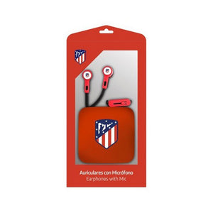 In ear headphones Atlético Madrid Red