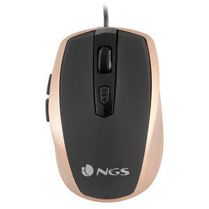 Optical mouse NGS Tick Gold TICKGOLD USB Golden