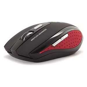 Optical Wireless Mouse NGS Flea Advanced 800/1600 dpi Black Red