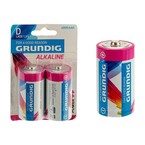 Batteries Grundig LR20 6000 mAh (2 pcs)