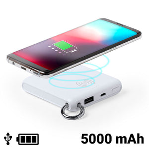 Power Bank with Wireless Charger White 146261