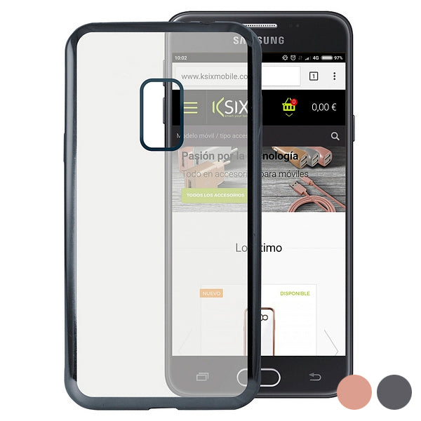 Mobile cover Galaxy J7 2017 Flex Metal