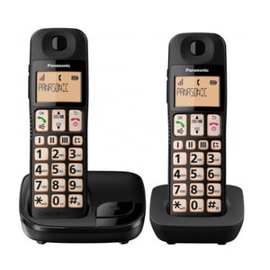 Wireless Phone Panasonic Corp. KX-TGE112E (2 pcs) (Refurbished A+)