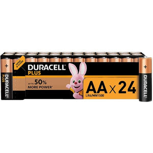 Alkaline Batteries Duracell Plus AA LR06 MX1500 (24 pcs) (Refurbished A+)