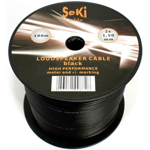 Speaker cable Black (100 m) (Refurbished B)