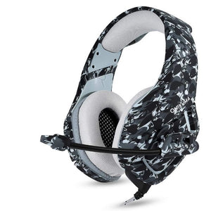 Gaming Headset with Microphone Docooler K1 Camouflage Grey (Refurbished A+)