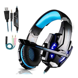 Gaming Headset LED Light Black/Blue (Refurbished B)