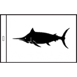 SunDot Capture Flags - Black Marlin Fish Flag - SunDot Fish Flags