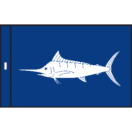 SunDot Capture Flags - Blue Marlin Fish Flag - SunDot Fish Flags