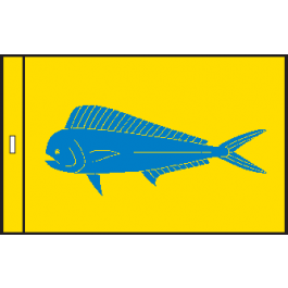SunDot Capture Flags - Mahi-Mahi (Dorado) Fish Flag - SunDot Fish Flags