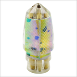 Koya +Bullet Lure Jetted – Mahi Scales Iridescent Mother of Pearl Shell Wrap – Nine Plus