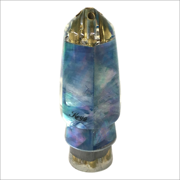 Koya Bullet Lure Jetted – With a Turquoise Iridescent Mother of Pearl Shell Wrap – Small