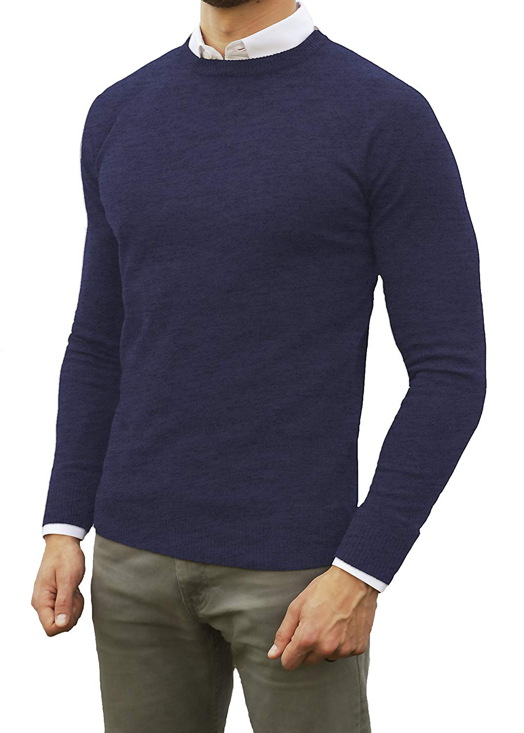 Perfect Slim Fit Lightweight Soft Fitted Crew Neck Pullover Sweater