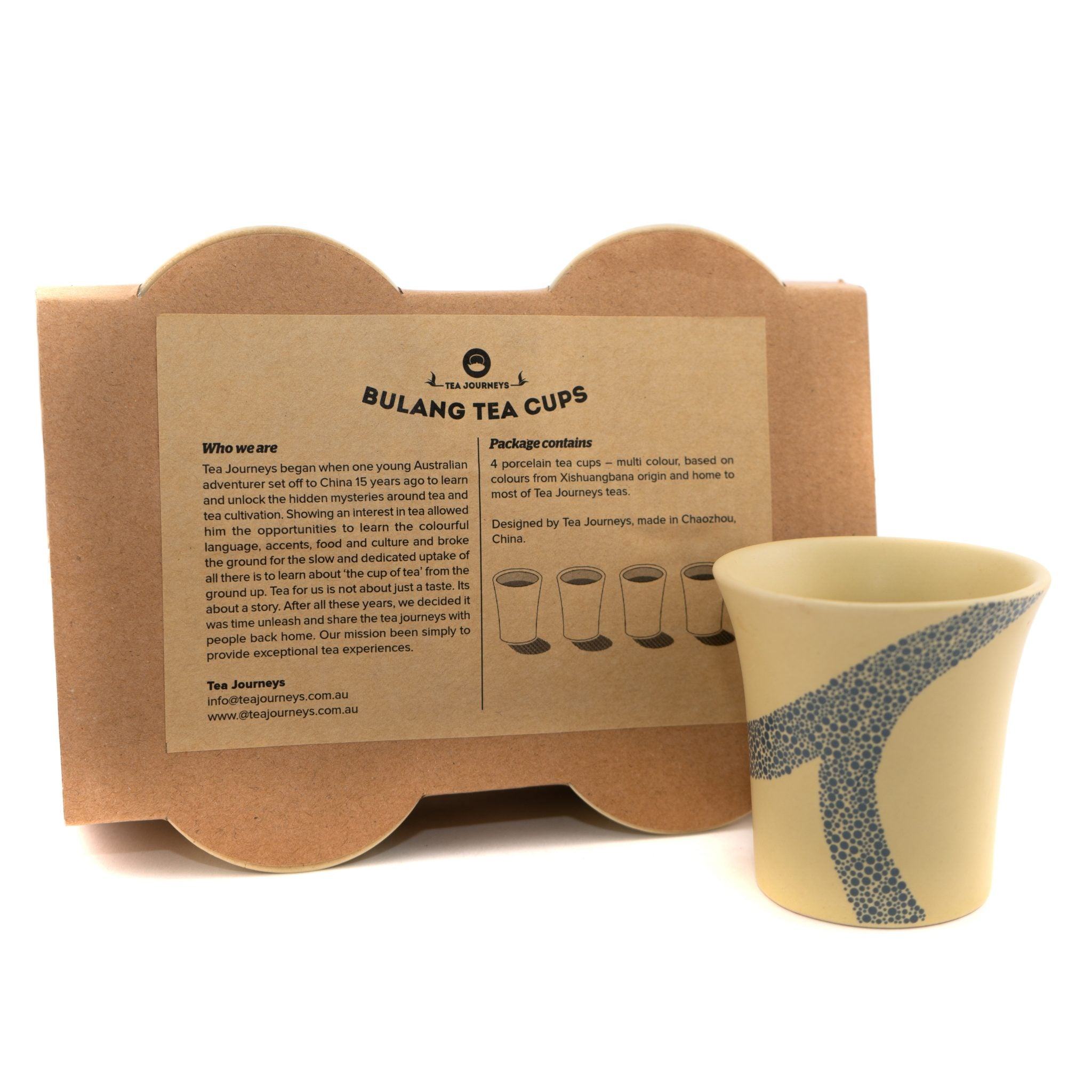 Bulang Tea Cups  (4 pack of cups)