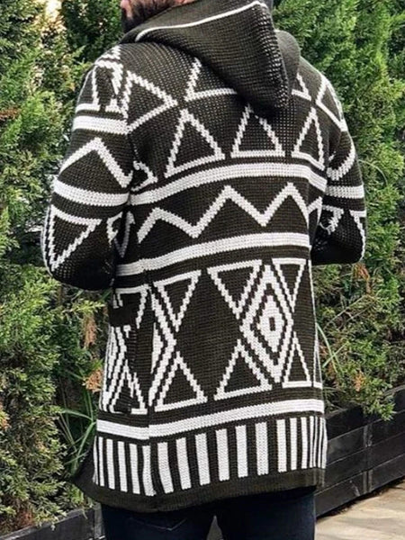 Thejazzyshop Standard Geometric Slim Winter Sweater