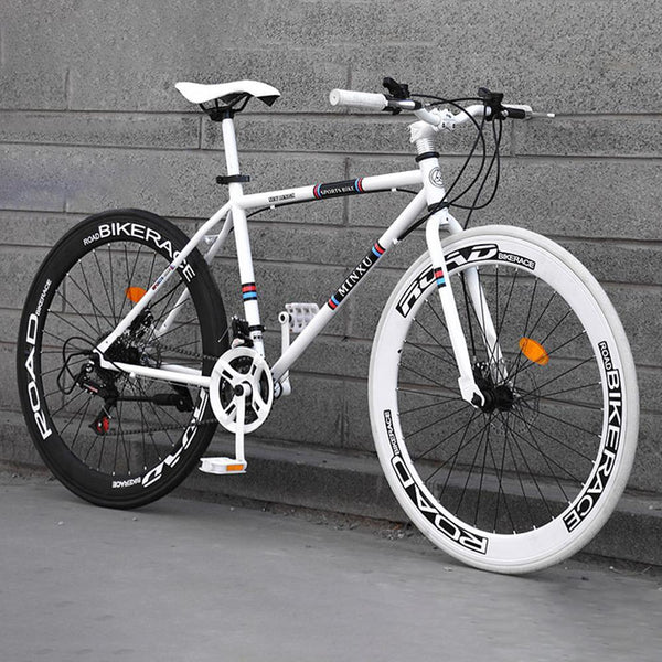 Thejazzyshop 26 Inches 21 Speed Adult Road Bikes Live Bikes For Male And Female Students Fixie Bike