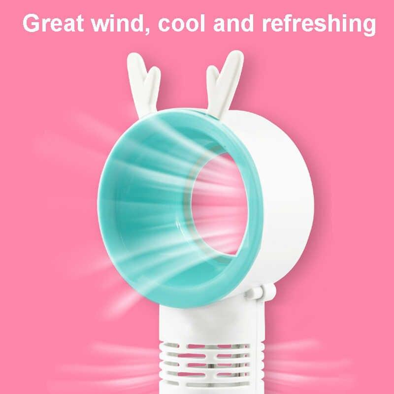2019 NEW MINI CREATIVE LEAFLESS PORTABLE SMALL NIGHT LIGHT FAN