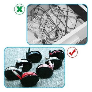 Retractable Tangle-Free Portable Manager For Headphones - Recoil Automatic Cord Retractor And Cable Winder