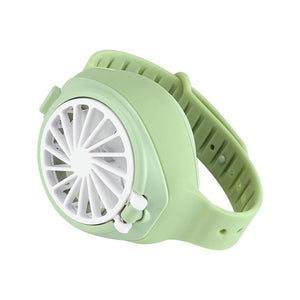 2020 New Design Personal Portable Wearable USB Rechargeable Watch Fan mini three-speed silent electric fan