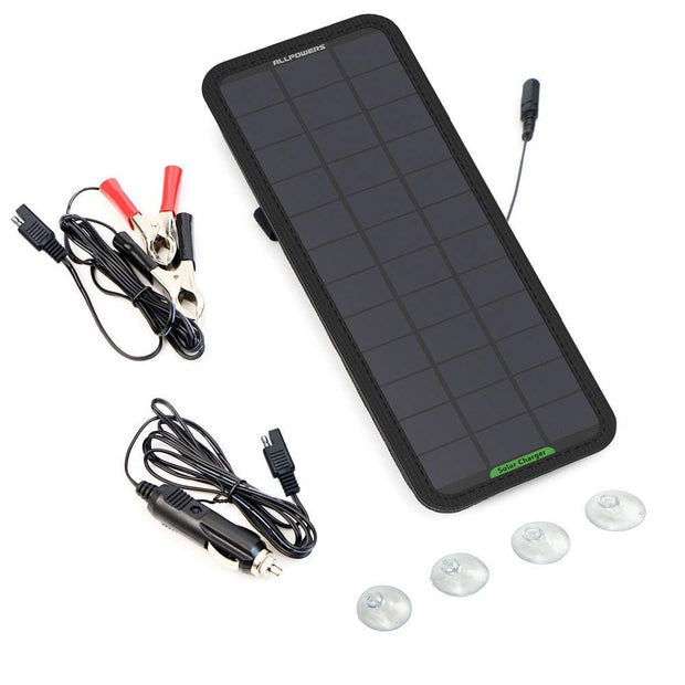 ALLPOWERS 7.5W Solar Car Battery Charger