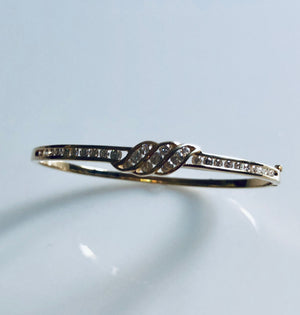 Bangle Bracelet with Diamonds