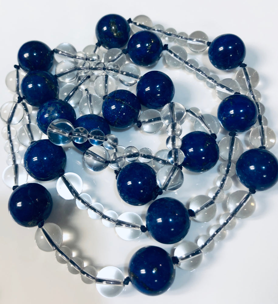 Lapis Lazuli Necklace with Quarts
