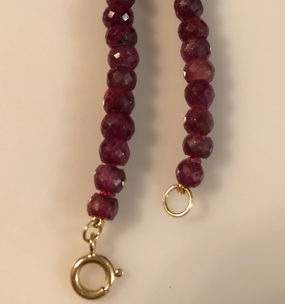 Ruby Naturally Faceted Necklace
