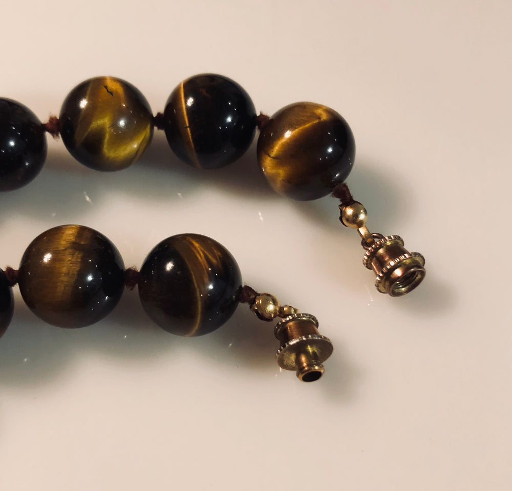 Load image into Gallery viewer, Tiger Eye Beaded Necklace
