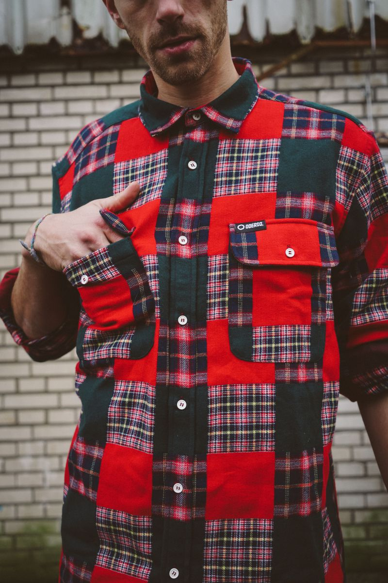Christmas Checkered Thick Longsleeve Shirt